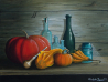 Christopher Lanser, still life, pumpkins