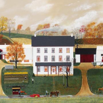 Fabulous Fisher Farm, Christopher Lanser Art, Acrylic, Lancaster County