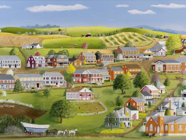 Christopher Lanser, cross keys, village