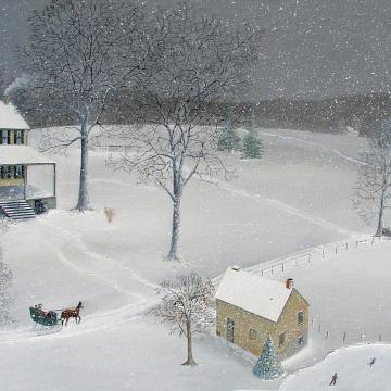 Christopher Lanser, snow, winter, gault house