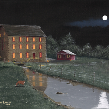 Full Moon At White Horse Mill