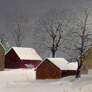 """Print: The Gault House II   10"""" x 30"""" image size on 14"""" x 34"""""""