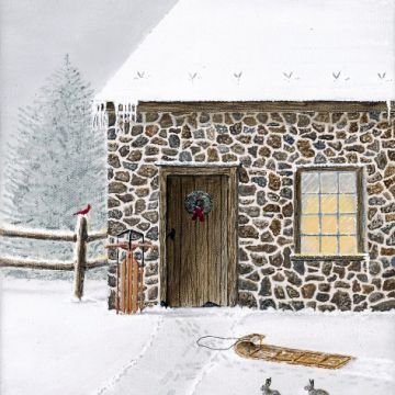 PRINT   Springhouse 8x10